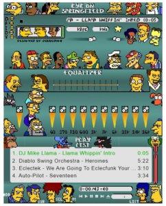 Winamp Simpsons Skin
