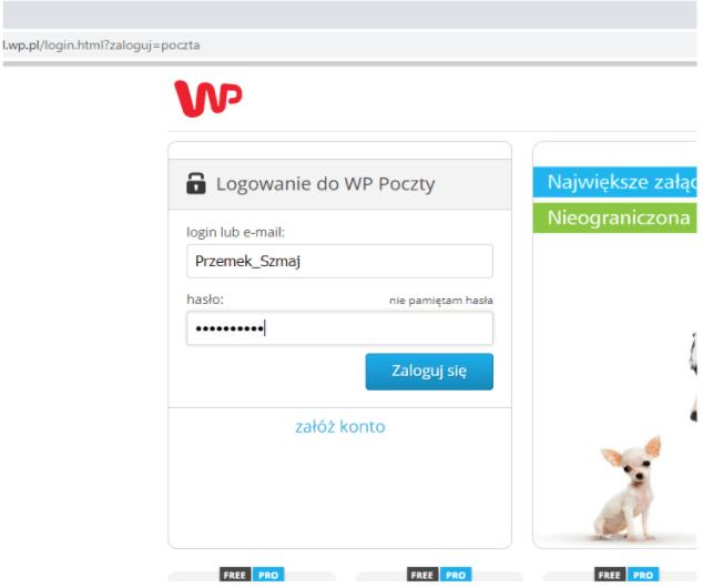 Atak MITM - usunięcie warstwy SSL - Logowanie do poczty online