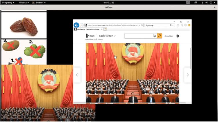 Atak MITM - zafałszowanie tablicy ARP - Przechwycenie obrazów na stronie