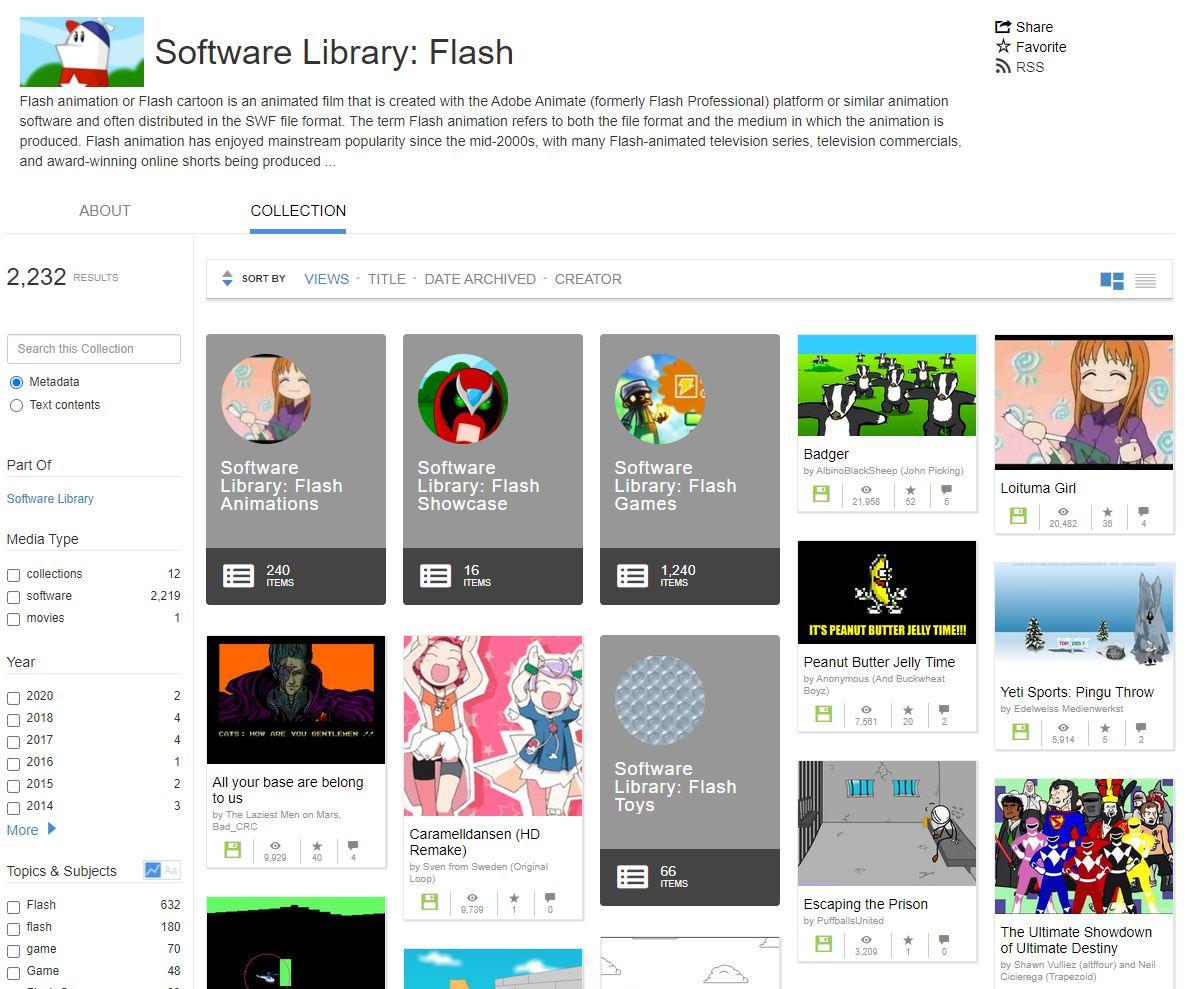 Internet Archive archiwizuje gry i animacje