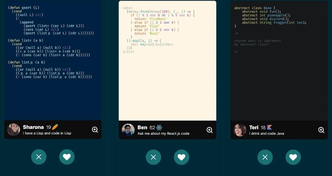 Aplikacja randkowa dla programistów