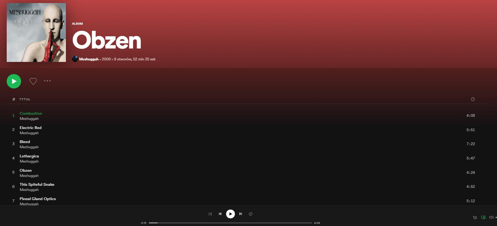 Spotify - Meshuggah