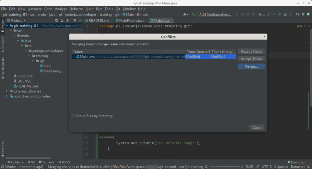 conflict ide